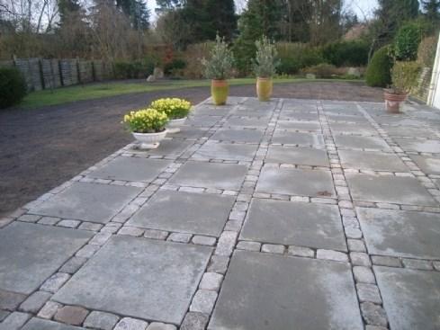 Granit og beton i kombination