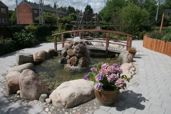 vandkunst i haven